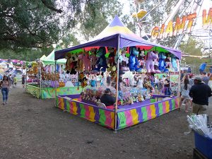 Carnival booths at the Clayton Oktoberfest