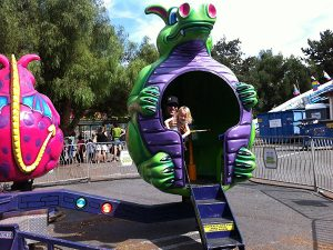 Spinning Dragon Ride at the Clayton Oktoberfest Carnival