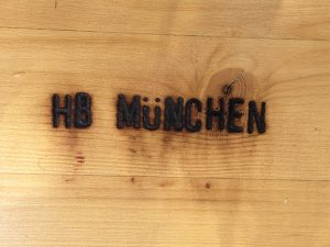 Authentic German Munchen wood benches at the Clayton Oktoberfest