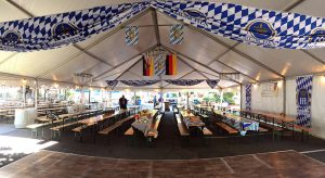 Authentic German Biergarten Tent at the Clayton Oktoberfest