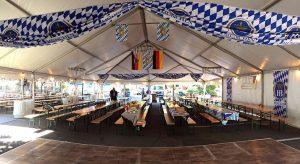 Authentic German Biergarten Tent at the Clayton Oktoberfest