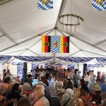 The Internationals Band performing in the authentic German Beer Garden at the Clayton Oktoberfest