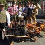 Clayton Oktoberfest Ceremonial Parade with dog and The Internationals Band